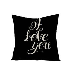 Carta de la funda de almohada Carta de lino MR Mrs Love Heart Almohadores Cubierta de impresión Cubiertas Cubiertas Home Fashion Popular 4 5Jz UU