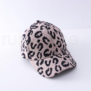 Adult Leopard Animal Print Ponytail Baseball Cap Kids Criss Cross Washed Cotton Ball Cap Fashion Leopard High Messy Hat 7styles PPD4189