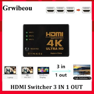Grwibeou 3 Port 4K*2K 1080P Switcher HDMI Switch Selector 3x1 Splitter Box Ultra HD for HDTV Xbox PS3 PS4 Multimedia HOT Selling