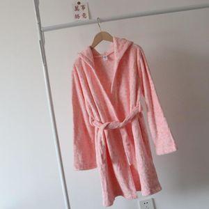 coral long sve Autumn veet winter housewear pajamas bathrob for boys and girls
