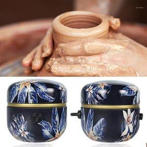 1500RPM Mini Pottery Machine Electric Pottery Rotella Strumento di argilla fai da te con vassoio per adulti Bambini Ceramica Art Wheel Machine11