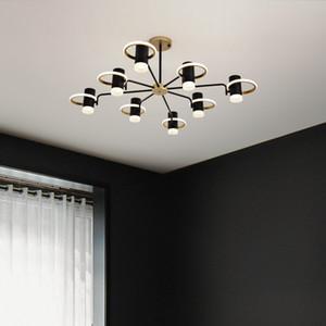 Postmodern  art creative living room led chandelier atmospheric personality Nordic minimalist dining room bedroom LED lamps RW475