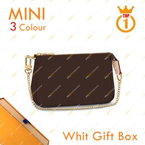 숙녀 패션 디자이너 고품질 5A Pochette Accessoires 미니 어깨 가방 M58009 꽃 바둑판 핸드백 상자 무료 배송