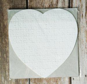 Сублимационные заготовки сердца головоломки DIY головоломки сердца любовь головоломки горячая передача печать пустые расходные материалы детские игрушки подарки FY7451