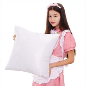 40*40cm Sublimation Pillowcase DIY Heat Transfer Printing Pillow Cover Blank Pillow Cushion Without Insert Home Supplies SEASHIPPING LJJP761