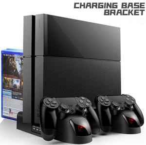 PS4 slim pro multi-function bracket set Controller Charger base bracket game handle seat charging cooling fan disc shelf for Playstation 4