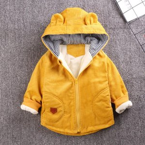 Benemaker Baby Winter Corduroy Windbreaker For Boy Girl Fleece Jacket Warm Children Clothing Infant Kids Clothes Outerwear AP065