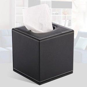 Boîte de papier à rouleau de forme carrée Boîte de tissu Creative Home Papier Tube Tube Type d'hôtel Tissu Boîte (Noir) 1