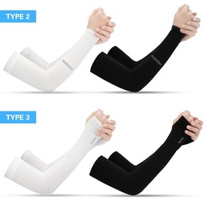 1 Pair Unisex Cooling Arm Sleeves Cover Cycling Running UV Sun Protection Outdoor Men Nylon Cool Arm Sleeves for Hide Tattoos