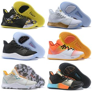 New New Buy PG 3 Apollo Missions shoes for sales Free shipping hot Paul George 3 white basketball shoes