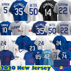 Mookie Betts Jersey Cody Bellinger Béisbol Corey Seaver Enrique Hernández Julio Urias Joe Kelly Los Justin Turner Clayton Kershaw Angeles
