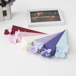 10pcs Scatola da sposa Candy Box cono forma regalo confezione box borse con feste di compleanno multicolore Confezione carta regalo di carta1