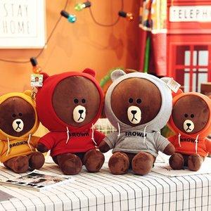 Stuffed Stuffed Adult Brown Bear & Bear Plush Toy Gift Cute Bear Animals Doll Brown Bunny Birthday Children Wvgud