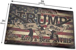 Trump Law Order 2nd Änderungsantrag Guns Amerikanische Flagge 3X5, Outdoor Indoor Advertising Outdoor Indoor, Kostenloser Versand