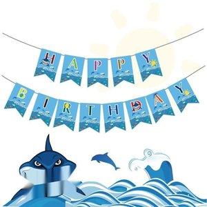 Partido del tema del océano y jalar flores Prop flowerflower dibujo actividad de tiburón tirando accesorios decorativos del partido flores indicador de vacaciones Tema Tire Prop fl
