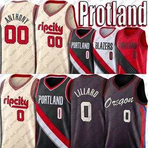 0 Damian Portlands Lillard Jersey Carmelo 00 Anthony Formalar Oregon Formalar CJ 3 McCollum Formalar 2021 Şehir Yeni Bildirimi Üniforma