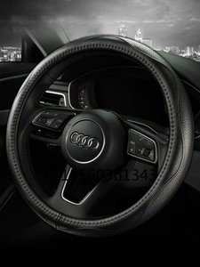 for Audi A4L A6L A3 A5 A7 A8 Q3 Q5 Q7 Q2L steering wheel cover leather car grip cover four seasons