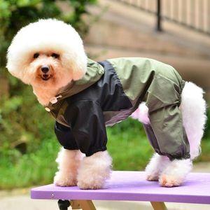 Собака одежда собака дождевик домашнее животное одежда одежда водонепроницаемая куртка с капюшоном высокое качество для малых средних больших собак T200328