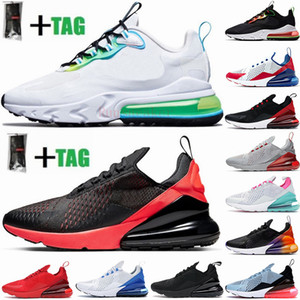 2021 New Cushion 270 Sports Sneakers Mens Running Shoes CNY Rainbow Heel Trainer Road Star Platinum Jade Bred Women 27C Sneakers Size 36-45