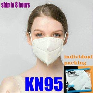 KN95 maschera adulti ragazzo di lusso pacchetto N95 rifornimento della fabbrica di vendita al dettaglio riutilizzabile 5 strato antipolvere progettista protettiva viso mascherare mascarilla FFP2 masche