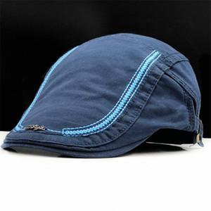 2020 New Casual British Style Unisex Solid Cabbie Hats Caps Newsboy Cap Flat Hat Irish Newsboys Caps For Men And Women