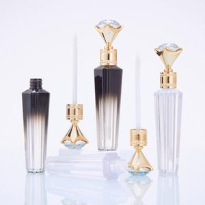 Elmas Dudak Tüpler Şeffaf Konteynerleri Doldurulabilir Lipgloss Şişeler RRA3792 Packaging Lip Gloss Tüp Dudak Seyahat Şişe boşaltın