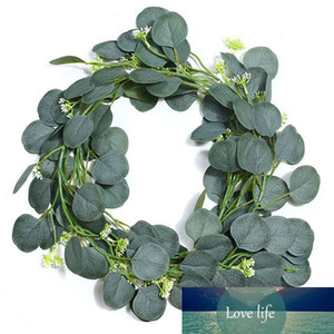 Artificial Green Eucalyptus Leaves Wreath Seed Wreath Ivory Vine Grape Vine Green Plant for Wedding Arch Table Runner Farmhouse