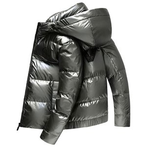 New Winter Hooded Polished Men's Cotton-padded Down Jacket