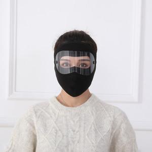 1pc nero rosso inverno nuovo occhiali maschera maschera viso maschera per esterni shing caldo freddo antivento polarizzatore a doppio strato EEF4941