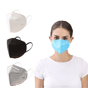KN95 Masks Non-woven Disposable Folding Face Mask Fabric Dustproof Windproof Respirator Anti-Fog Dust-proof Outdoor Masks Fast Shipping