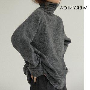 Werynica Herbst-Winter-Kaschmir Rollkragen koreanischen Stil gemütlich gestrickte warme weibliche Pullover übergroßen Frauen Pullover