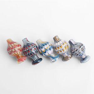 New 25OD US Colorful Glass Bubble Carb Cap 5 Colors Bubble Cap Suit For Beveled Edge Quarztz Banger Nails Water Bongs Dab Rigs