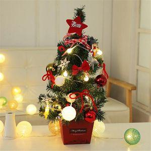 Table Christmas Tree LED Nightlight Decoration String Light Pine Tree Mini Xmas Set Christmas Decoration New Year Gift 50cm