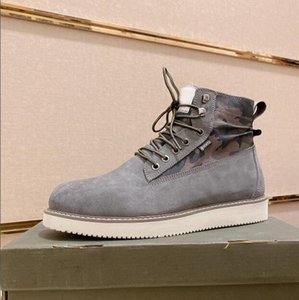 New Arrival Keep Wram Martin Boots For Mens Army Ankle Real Suede Leather Knight Snow Winter Lace Up Boots Size 38-44