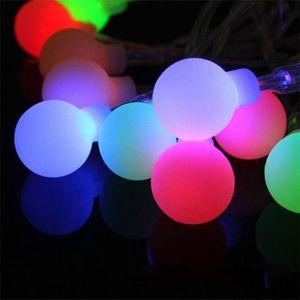 4 M 28 LED RGB Garland GUIRLANDE boule de lumière pour le mariage de Noël de vacances Décoration Festival de la lampe extérieure lumières 220V EU Plug