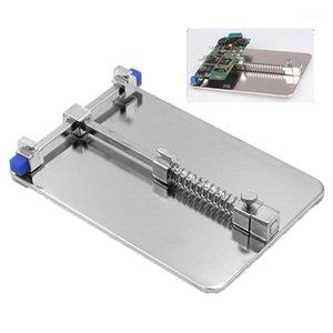 Soporte de PCB Universal Tablero Lógico Ajuste de la abrazadera firmemente 90x130mm Estación de trabajo para la herramienta de reparación de la placa de circuito del teléfono móvil1