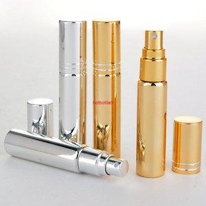 10ml Plating UV Black Gold Silver Portable Mini Spray Perfumes Bottles Travel Makeup Perfume Atomizer Case Packing 50pcs lotpls order