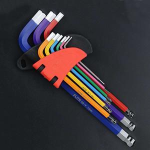 Wrench Set Schraubendreher Universalschlüssel Inbusschlüssel 1.5mm-10mm 9PCS Doppel-End L Typ Hexagon flacher Ball Spanner Metric Handwerkzeug