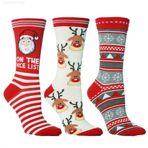 I Pair Women Men Casual Cartoon Christmas Socking Happy Sock Cycling Funny Socks For Kids New Year Gifts