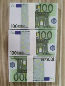 06 mágica transfronteriza apoyos 100 euros 100 hojas de un haz de simulación de euros aerosol dinero apoyos de barra arma euro juego de magia