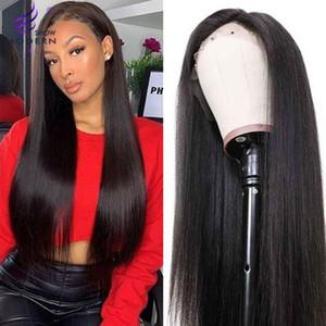 الحديث مشاهدة 13x4 الرباط الجبهة الباروكات الإنسان الشعر البرازيلي مستقيم الشعر شعر مستعار للنساء السود قبل Plucked150٪ الكثافة ريمي