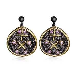 Мода новые ювелирные серьги для женщин CZ Diamond Crystal Vintage Black Gold Plated романтические подвески Серьги Женские аксессуары