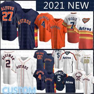 2020 New Jose Altuve Personalizado Alex Bregman Jersey Baseball Justin Justin Verlander Nolan Ryan Craig Biggio Carlos Correa George Springer Jeff Bagwell