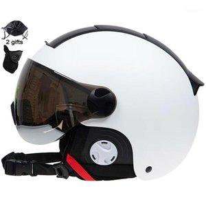Lugar para hombres Mujeres Ski Casco en molde Invierno Deportes Skiing Helmets Ski Snowboard con gafas Máscara Snow Skate Snowmobile1