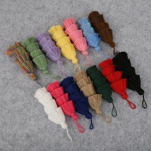 1 pc 4 camadas poliéster algodão tassel guarnição 8cm borlas de seda para decoração de casamento em casa DIY Costura Cortinas Acessórios H Qyltgg
