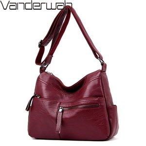 Winter Real Leather Zipper Luxury Handbags Women Bags Designer Ladies Shoulder Crossbody Bags For Women 2019 Bolsa Feminina Sac 0928