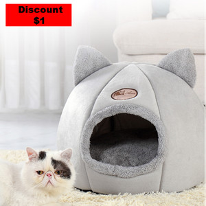 se products pets tent cozNew Deep sleep comfort in winter cat bed little mat basket for cat dog houy cave beds Indoor cama gato