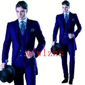 Classic tuxedos groom wedding Peak Lapel men suits mens wedding suits tuxedo costumes de pour hommes men(Jacket+Pants+Tie+Vest) W356