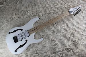 Strumenti musicali di alta qualità Bianco Hollow Guitar Body Tre Pickups IBZ Chitarra elettrica Lefty China OEM personalizzata disponibile