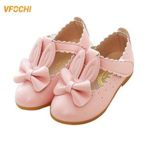 VFochi de cuero para niños Bunny de tacón bajo baile de niños Princesas Adolescente Niñas Zapatos de boda C0119